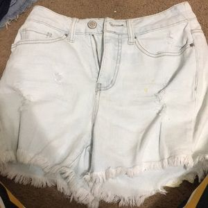 Light blue rip shorts